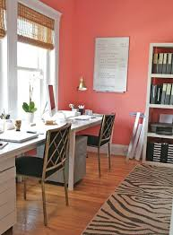 home office idea love the coral walls home office inspiration