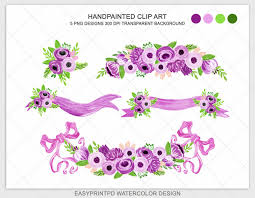 halloween bow with transparent background handpainted watercolor purple lilac spring wedding flower