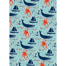 octopus wrapping paper nautical wrapping paper oh sweet wrapping paper