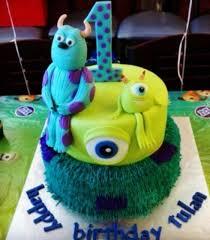monsters inc birthday cake inc birthday cake in 2 tiers jpg