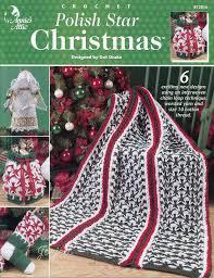 annie u0027s attic polish star christmas crochet pattern 6 projects ebay