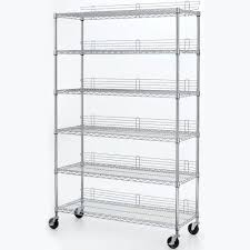 Wire Shelf Cart Hdx 6 Shelf 77 In H X 48 In W X 18 In D Industrial Wire Unit In