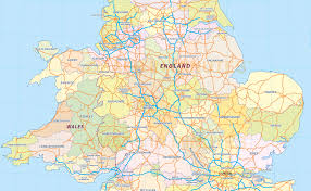 A Map Of England by Digital Uk Simple County Administrative Map 5 000 000 Scale
