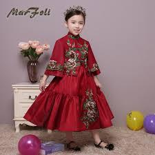 robe en dessous des genoux aliexpress com acheter robe de bal genou longueur broderie filles