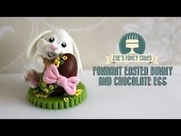 Decorating Easter Chocolate Eggs by Fondant Easter Bunny Cake Topper Chocolate Egg How To Make Fondant