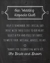 wedding guest keepsakes instant wedding quilt sign guestbook quilty