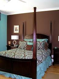 blue and brown bedroom set interior design
