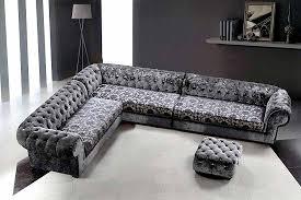 Tufted Sectional Sofa Grey Dream Micro Fiber Sectional Sofa U0026 Ottoman Sectionals