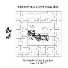 prodigal son dot to dot coloring page pew bags pinterest