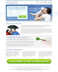 life insurance landing page designs to capture leads online