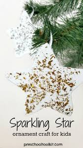 easy sparkling ornament craft for preschool