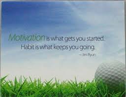 motivation gets you started habit keeps you going black greeting