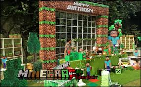 minecraft backdrop best themed birthday party decoration photo gallery pakistan