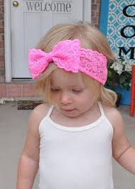 band baby newly design new fashion lace big bow hair band baby