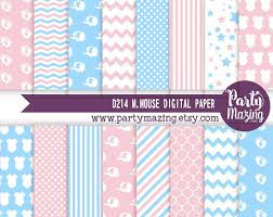 baby shower paper gender reveal digital paper baby blue and baby pink baby shower