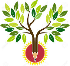 illustration of a pencil tree with isolated background royalty