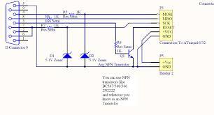 isp programmer burner with circuit diagram for avr atmega micro