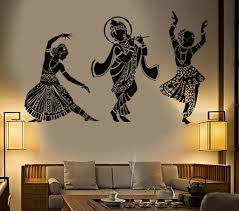 Guest Bedroom Vinyl Wall Art Vinyl Wall Decal Dance Indian Womans Devadasi Indian Dance