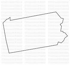 Pennsylvania State Map by Pennsylvania State Map Svg Png Jpg Vector Graphic Clip Art