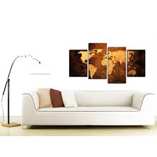 canvas pictures of a world map in brown for your bedroom display gallery item 1 world map canvas wall art in tan for the home display gallery item 2