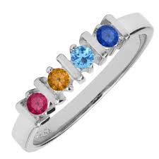 mothers ring four mothers ring in 14kt white gold