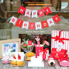in party supplies kids happy birthday party decoration mini flags garland set kids