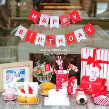 Kids Happy Birthday Party Decoration Mini Flags Garland Set Kids