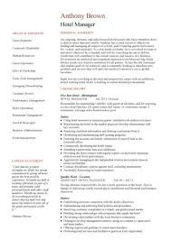 Sample Resume For Hotel Industry by Hotel Manager Cv Template Job Description Cv Example Resume