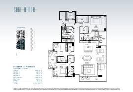 penthouse floor plans sage beach hollywood beach florida new beachfront condos for sale