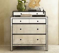Nightstands With Mirrored Drawers Black Mirror Dresser Best Classic Design Multiple Finish Rectangle