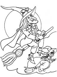 happy halloween witches coloring pages printable free hallowen