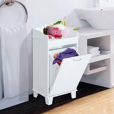 wood tilt out laundry hamper homcom wooden laundry hamper bathroom organizer with tilt out