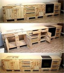 classic ideas for pallet wood recycling pallet kitchen cabinets