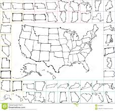 Usa Maps States by Usa Map With States Brush Strokes Stock Vector Image 45328057