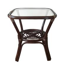 square small coffee table helena color dark brown with glass top
