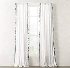 Tassels For Drapes Tassel Trimmed Voile Drapery Collection Rh Teen