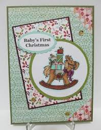 details about babies first christmas card pink or blue handmade