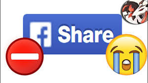 why share button is missing from facebook youtube