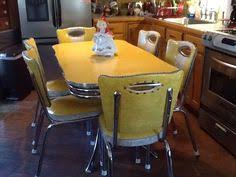 Vintage Formica Kitchen Table And Chairs by Vintage Yellow Chrome And Formica Spartan Table And 6 Chairs