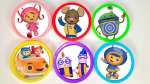 team umizoomi nick jr learn colors play doh surprise toys