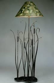 Wrought Iron Floor Lamps Wrought Iron Cattails Floor Lamp Winnipesaukee Forge
