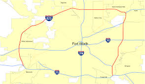 Dallas Fort Worth Area Map by Interstate 820 Wikipedia