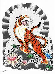 my japanese tiger design coloured 3 by shannonxnaruto