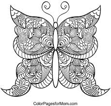 detailed butterfly coloring pages for adults butterfly coloring page 21 coloring pinterest butterfly 21st