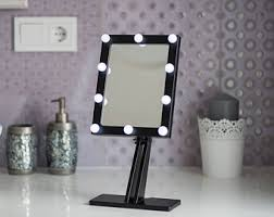 White Vanity Mirror With Lights White Makeup Mirror With Lights Hollywood Lighted Vanity