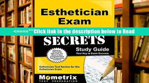 download esthetician exam secrets study guide esthetician test