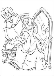 beauty beast coloring printable belle touches beast