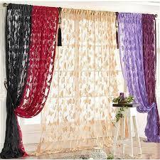 Sheer Door Curtains Butterfly Tassel String Sheer Door Curtains 200cm X 100cm For