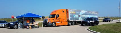 semi truck pictures schneider state patrol show semi truck blind spots at public