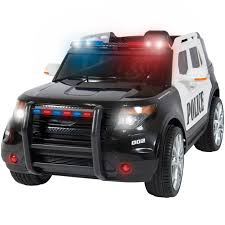 remote control police car with lights and siren bestchoiceproducts rakuten best choice products 12v ride on car